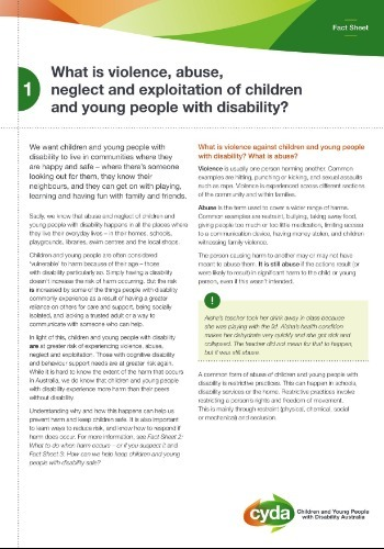 What is violence, abuse, neglect and exploitation of children and young people with disability