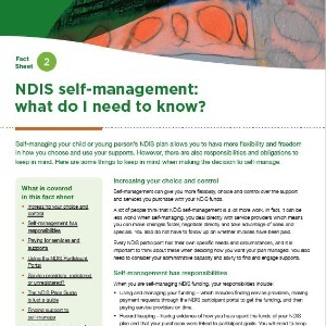 NDIS self-management - what do I need to know?