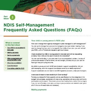 NDIS self-management - frequently asked questions