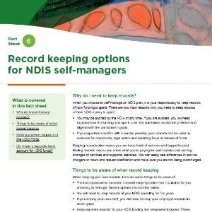 Record keeping options for NDIS self-managers