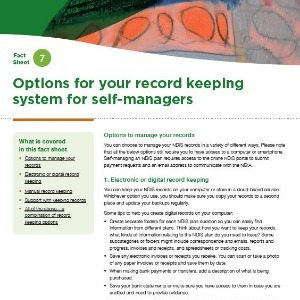 Options for your record-keeping system for self-managers