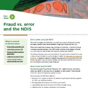 Fraud vs. error and the NDIS